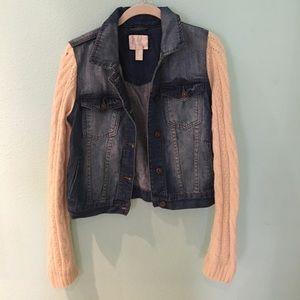 Sweater Jean Jacket